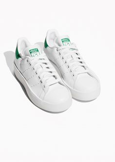 new style 343eb 77326 Other Stories image 2 of Adidas Stan Smith Bold in White Adidas Sneakers,  Shoes