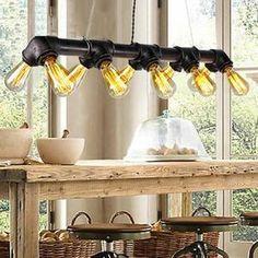 Suspension Luton Lustre verre et bois intérieur Transparent