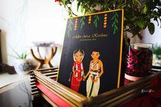 Cute Indian Cartoon Wedding Invitation Card and all its details - Indian Wedding Invitation Cards, Wedding Invitation Card Design, Indian Wedding Invitations, Wedding Cards, Marriage Invitation Card, Marriage Cards, Photo Invitations, Invites, Wedding Card Design Indian