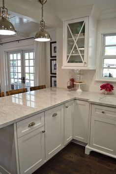White Kitchen Countertops With White Cabinets this is it!!! white cabinets, subway tile, quartz countertops