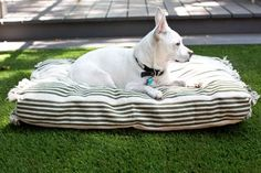 Turn three flat-weave rugs into a stylish pet bed >>.http://www.diynetwork.com/how-to/make-and-decorate/crafts/how-to-make-a-pet-bed-slipcover-from-a-flat-weave-rug?soc=pinterest