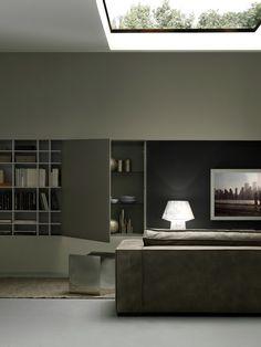 Modulnova  - Arredamenti Stadio Seregno - New Catalogue, Living Room, Mirror, Wall, Modern Houses, Furniture, Color, Home Decor, Decoration