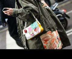 the Fendi baguette seems to be making quite the resurgence... Tommy Ton Shoots the Street-Style Scene at the Fall 2013 Shows