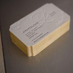 10 best custom die cut business cards images on pinterest die cut beautiful one color letterpress blind deboss custom die cut business card with custom die colourmoves