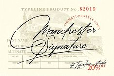 today im release new product Manchester Signature Classy font ,i hope this font perfect for creating signature logos and watermarks for photography studio or personal Cursive Fonts, Handwritten Fonts, Typography Fonts, Hand Lettering, Calligraphy Fonts, Classy Fonts, Simple Fonts, Elegant Fonts, Modern Fonts