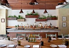 Wall planters. In the kitchen with herbs, in the living space to make it airy and fresh. good idea.
