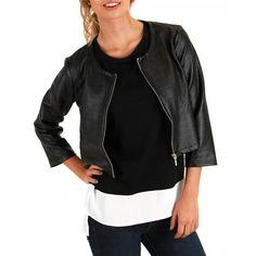 Faux Leather Jacket-SIENNA & BELLINI - Outerwear - Women