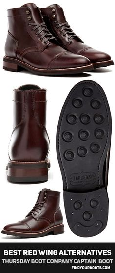 Thursday Captain Lace Up Boots - Men's boots like Red Wing Iron Ranger but cheaper - http://www.findyourboots.com/cheaper-alternatives-to-red-wing-heritage-boots/