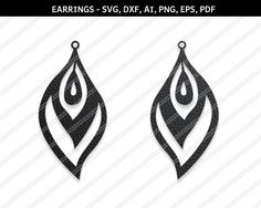 Feather Earrings svgModern Earrings svg Jewelry svg leather