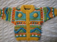 Baby Cardigan - Hand knitted