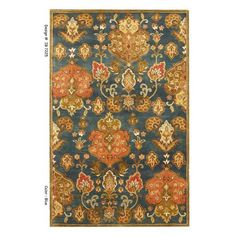 60ec2299e85e58 Kas Rugs Simple Perfection Blue Yellow 8 ft. x 11 ft. Area Rug-SYR60248X106  - The Home Depot