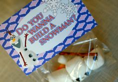 Frozen Inspired Olaf Birthday Favor Cards & Bags  by SocialFrills, $7.50