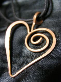 Hand Hammered UPCYCLED Copper Wire Valentines by LaraOwensArt, $9.99