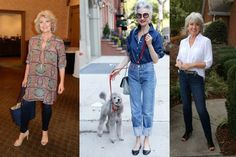 Dicas de 26 looks com calça jeans para mulheres maduras. Sim essa peça democrática pode fazer parte do closet feminino em qualquer idade