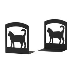 Wrought Iron Cat Bookends - Find at Wrought Iron Haven products such as book ends, book ends, cat bookends, booksends, childrens bookends. Childrens Bookends, Exotic Cats, Cat Silhouette, Elegant Homes, Black Metal, Wrought Iron, Decorative Accessories, Cat Lovers, 3 D