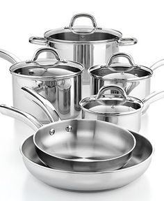 Martha Stewart Collection Stainless Steel 10 Piece Cookware Set  69.99