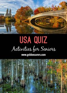 An American themed general knowledge quiz for elderly residents.
