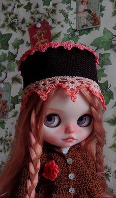 Zdobte šněrovací klobouk Ooak Custom Blythe Doll: Julie a viktoriánský