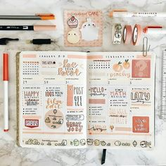 Work on your rainbow bullet journal spread now! Read this article for some incredible rainbow bullet journal theme ideas. Bullet Journal Kpop, Bullet Journal Aesthetic, Bullet Journal Ideas Pages, Bullet Journal Spread, Bullet Journal Inspo, My Journal, Bullet Journals, Bullet Journal Writing, Memory Journal