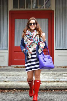 History In High Heels: Outfit: Stripes + Plaid