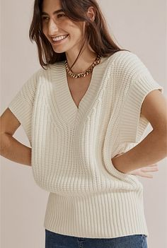 Knit Rib Detail Vest Shoe Size Conversion, Body Measurements, Online Purchase, Rib Knit, Vest, Turtle Neck, V Neck, Pullover, Detail