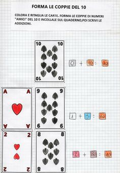 Le carte del 10 Maths, Montessori, Blog, Playing Cards, English, Learning, School, Teachers, Playing Card Games