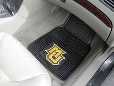 Marquette University 2-pc Heavy Duty Vinyl Car Mat Set