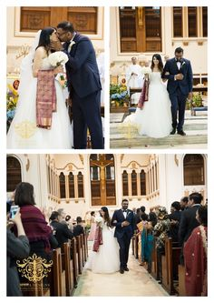 Anu and Anish's Catholic Wedding Ceremony { South Indian Wedding in Chicago, IL}