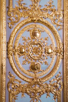 Paris Versailles Photography - Ornate Gold Architectural Detail on Door, French Home Decor, Wall Decor. $25.00, via Etsy.