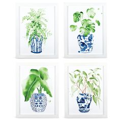 blue and white ginger jar artwork