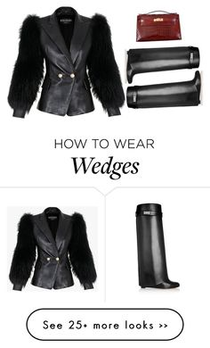 """""""Senza titolo #1328"""" by vladifashion on Polyvore featuring Balmain, Givenchy and Hermès"""