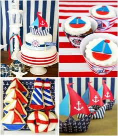 Nautical birthday party ideas with lots of DIY decorations, party printables, food and favors! Party Box, Bird Party, Party Party, Party Favors, Party Printables, First Birthday Parties, First Birthdays, Birthday Ideas, Birthday Desserts