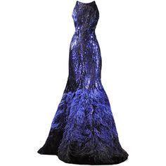 edited by elle-cxix(zuhair murad) ❤ liked on Polyvore featuring dresses, gowns, long dresses, vestidos, blue ball gown, zuhair murad, zuhair murad dresses and zuhair murad evening gowns