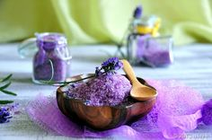 Lavender Bath Salts—Homemade Gift For Your Valentine -  As some of you might know, I love creating my own homemade gifts for special occasions, such as the Meyer Lemon Sugar Scrub from not long ago.  For this Valentine's Day, let me present to you, Homemade Lavender Bath Salts!  I've always enjoy soaking in a tub of warm water, infused with soothing and relaxing aroma, such as lavender.  It really wash away the weariness and soreness from a long day of work.