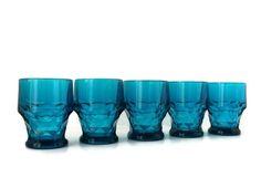 vintage juice glass  set of five Georgian in by FlumeStreet, $39.00