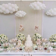 Baby Shower Balloon Clouds Baby Shower Birthday New Baby Décoration Baby Shower, Fiesta Baby Shower, Baby Shower Balloons, Shower Party, Baby Shower Parties, Baby Boy Shower, Cloud Baby Shower Theme, Lamb Baby Showers, Baby Balloon