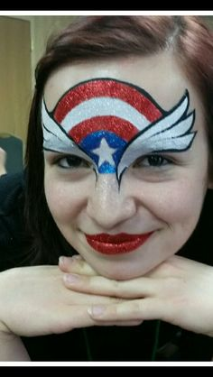 Superman Face Painting, Girl Face Painting, Face Painting Designs, Body Painting, Paint Themes, Make Up Art, Charity Event, Superhero Party, Face And Body