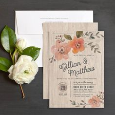 Rustic Love Wedding Invitations by Jennie Hake | Elli