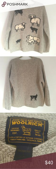 Woolrich Livestock Wool Sweater EUC. Woolrich livestock wool sweater. So adorable! Dry clean only. Woolrich Sweaters Crew & Scoop Necks