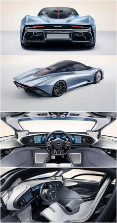 #mclaren #speedtail #hypergt #hybrid #silver #blue #2020 #fastest #racecar #rear #tail #lights #interior #ShouldInteriorWallsBeInsulated Mclaren Sports Car, Mclaren Cars, Exotic Sports Cars, Exotic Cars, Mc Laren, Sexy Cars, Sport Cars, Motor Car, Concept Cars