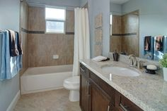Nice tile in guest room bath
