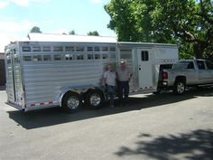 Congratulations to Tex and Jerry Kidd of the 'Rockin K Ranch' in Charlotte, NC on the purchase of their new custom built 4-Star Stock/Combo Trailer from LA Trailer Sales, LLC!! Thank you! 800.350.0358