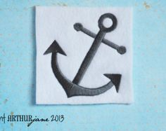 Anchor 1, INSTANT DIGITAL DOWNLOAD, Nautical Embroidery Design for Machine Embroidery 4x4