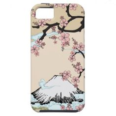 #Fuji and #Sakura - #Japanese #Design #Iphone #case #iPhone5 #cover by #sherill_ml #Japan #oriental #apple #gift #classic #art #asia