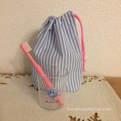 コップ袋の作り方、一番簡単で一番乾きやすい!幼稚園入園準備に | ハンドメイドで楽しく子育て handmadeby.cue