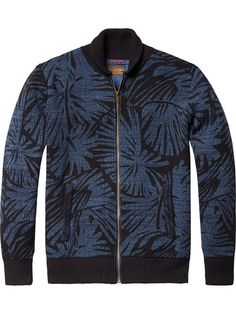 Knitted Bomber Jacket | Pullovers | Men Clothing at Scotch & Soda