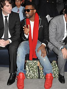 Kanye Red Shoes