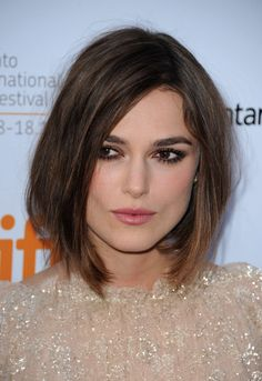 Keira Knightley at the 2011 premiere of 'A Dangerous Method'. Pretty colour and style for hair