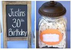 Mini chalkboard sign make a nice and inexpensive decoration