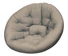 poltrona futon in cotone nest taupe   85x110x120 cm chaise convertible nest futon chair bleu royal   120 110   deco